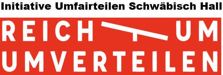 Hier ist das Logo der Initiative Reichtum umfairteilen zu sehen.